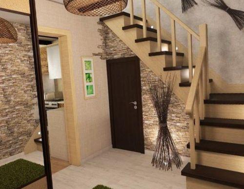 фото лестница в интерьере прихожей
